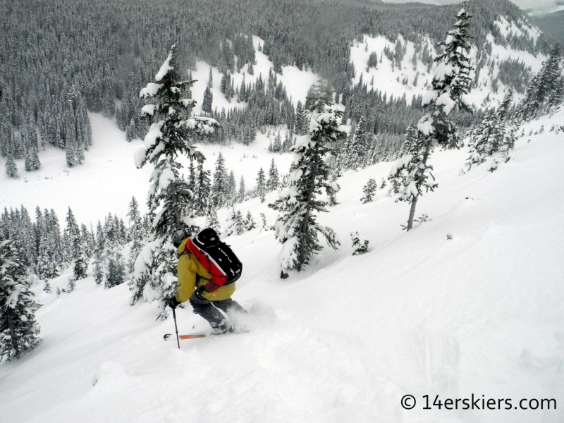 Frank dropping on Anthracites while backcountry skiing in Crested Butte