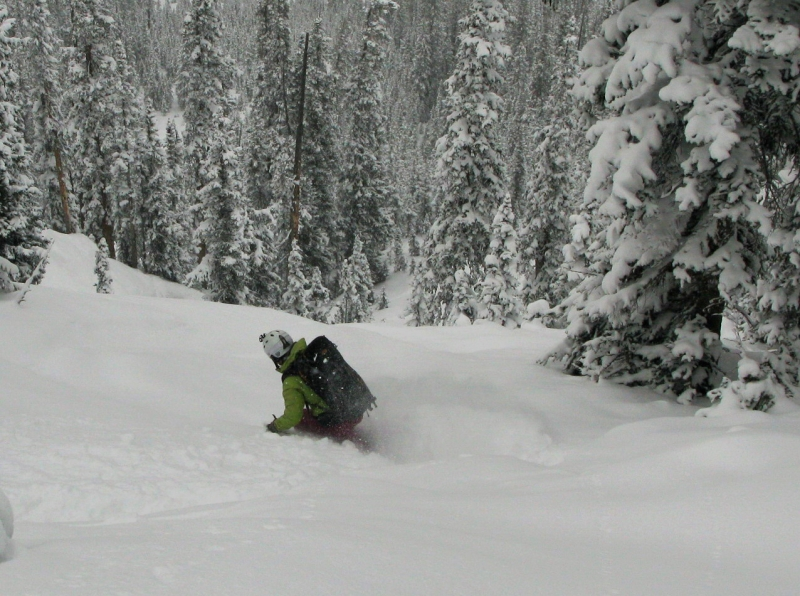 Backcountry skiing in the Anthracites