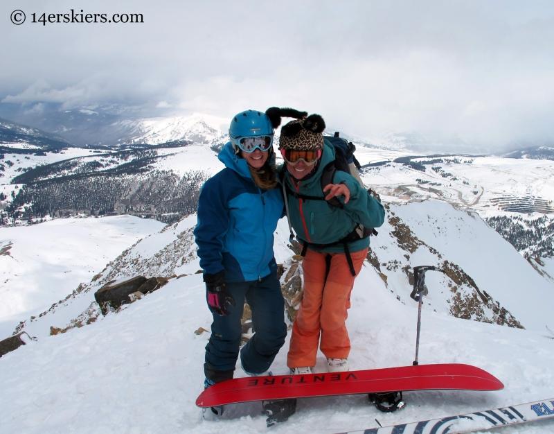 Brittany Konsella & Susan Mol on the summit of Mount Arkansas