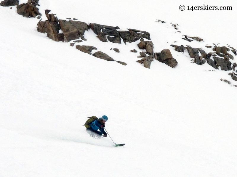 Brittany Konsella skiing