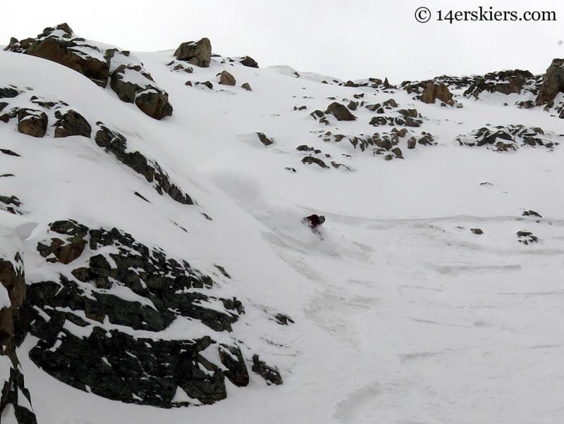 Frank Konsella skiing Mount Arkansas