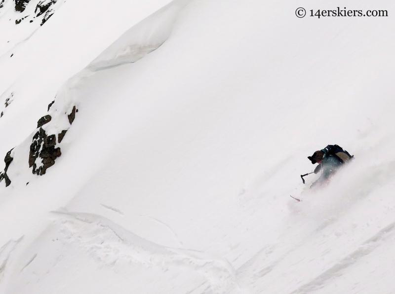 Susan Mol snowboarding Mount Arkansas