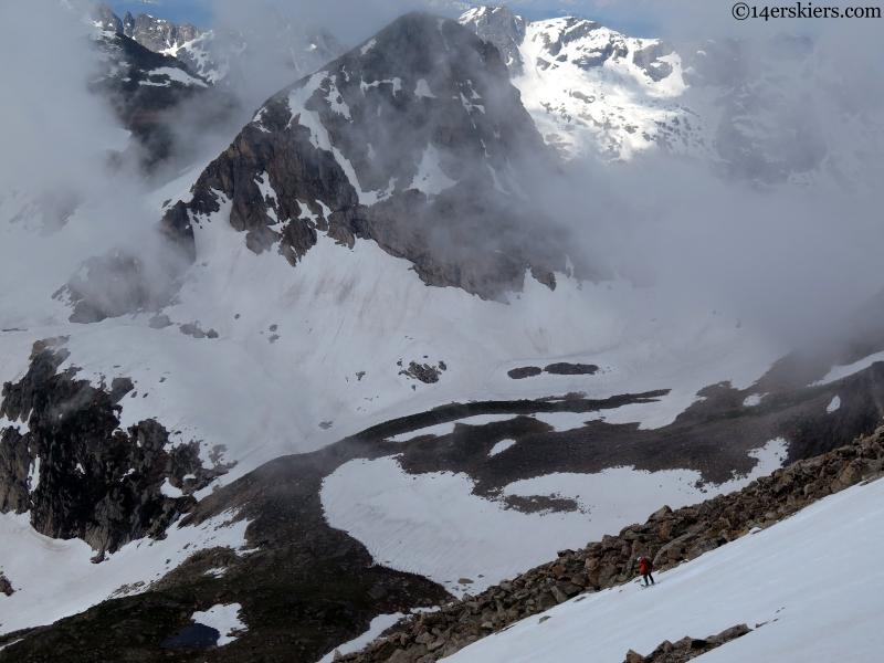 Summer skiing Indian Peaks Wilderness