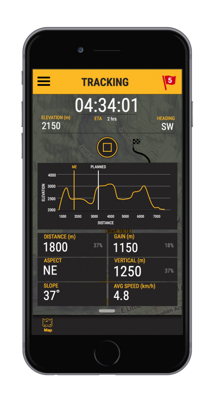 Route tracking using the Avanet mobile app