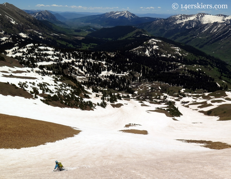 Brittany Konsella skiing the south side of Baldy