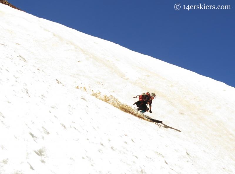 Jenny Veilleux skiing Baldy
