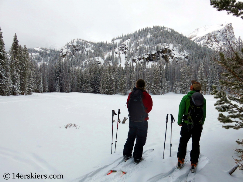 Backcountry skiing in Rocy Mountain National Park.