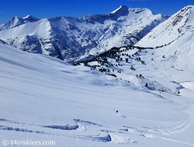 Backcountry skiing in Crested Butte