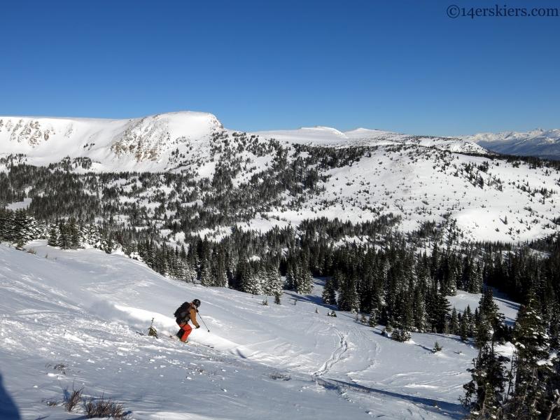 Berthoud Pass backcountry skiing