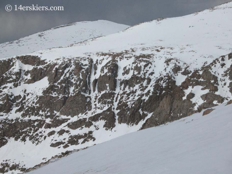 South Face of Spalding seen from Mt. Bierstadt