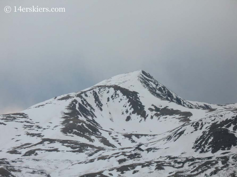 Square Top Mountain seen from Mount Bierstadt.