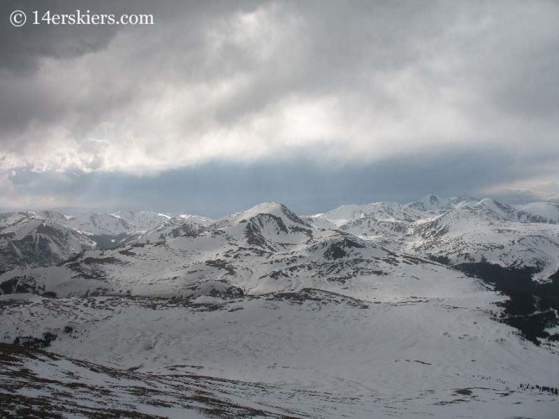 Square Top with Grays and Torreys seen from Mt. Bierstadt