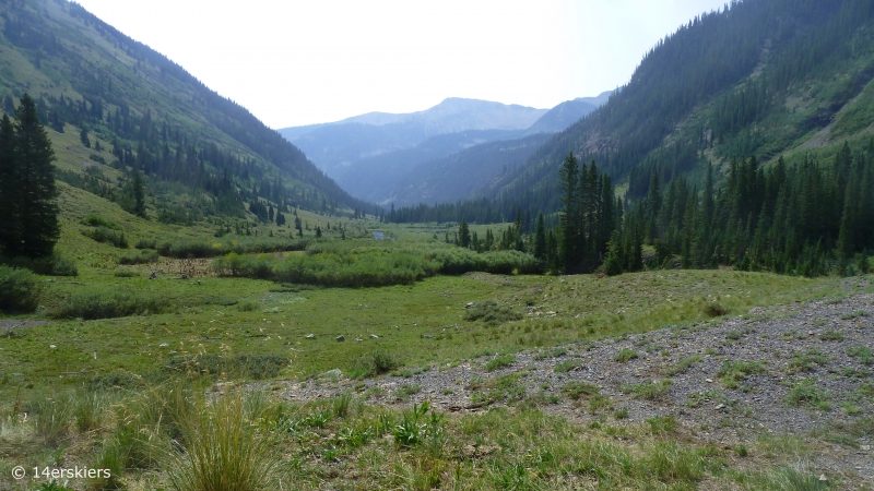 Hike to Blue Lake near Crested Butte