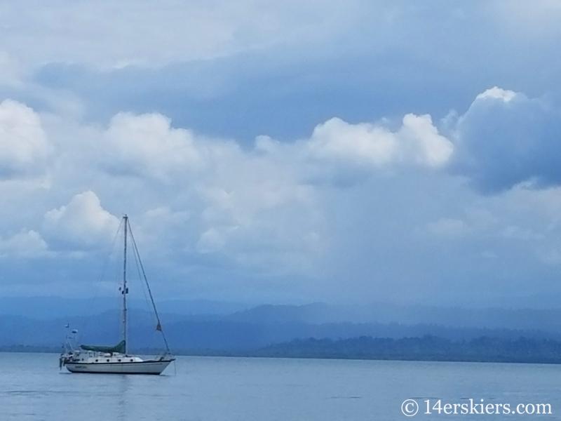 Scene from Playa Estrella in Panama.