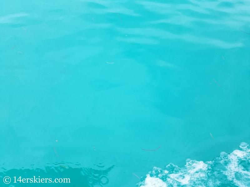 Caribbean blue water, Bocas del Toro, Panama.