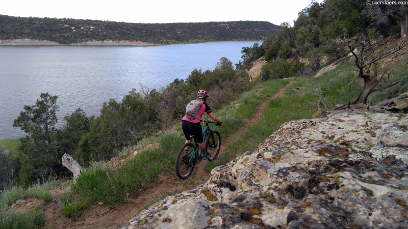 mountain biking mcphee reservoir