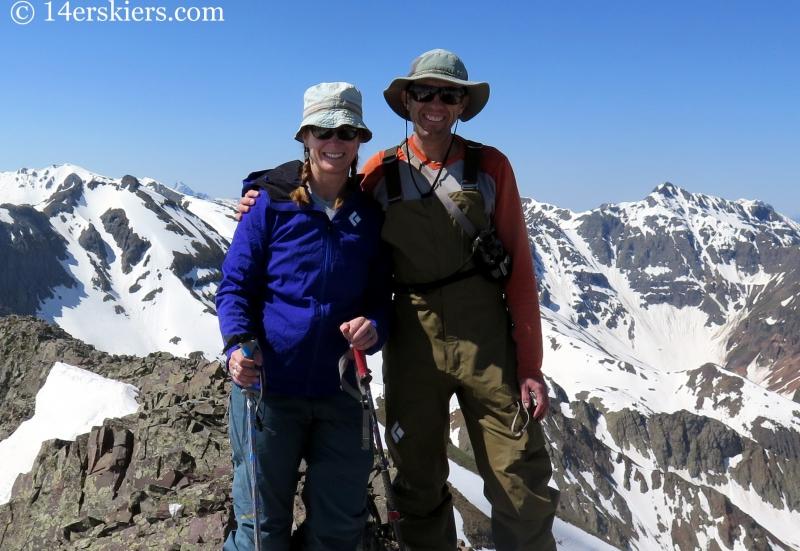 Frank & Brittany Konsella on the summit of Bonita Peak.