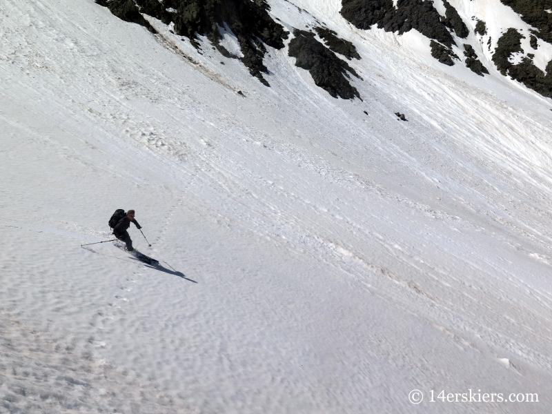Josh Macak backcountry skiing on Bonita Peak.