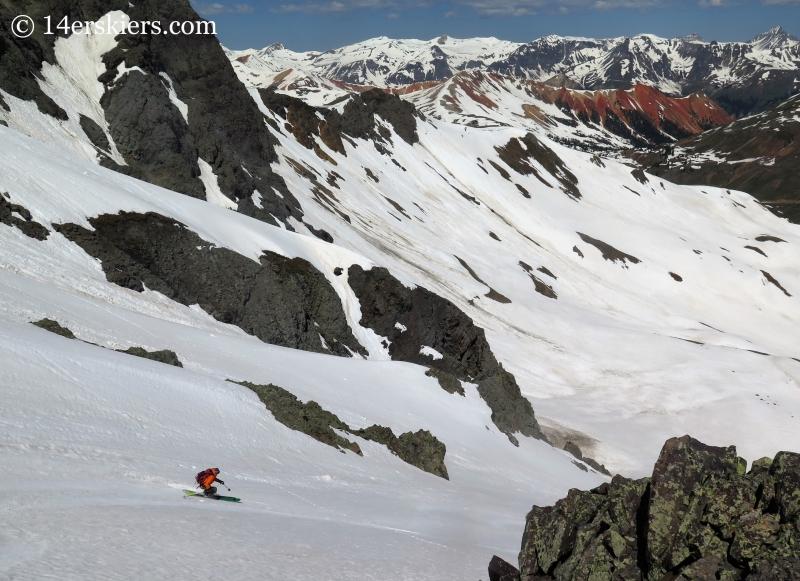 Frank Konsella backcountry skiing on Bonita Peak.