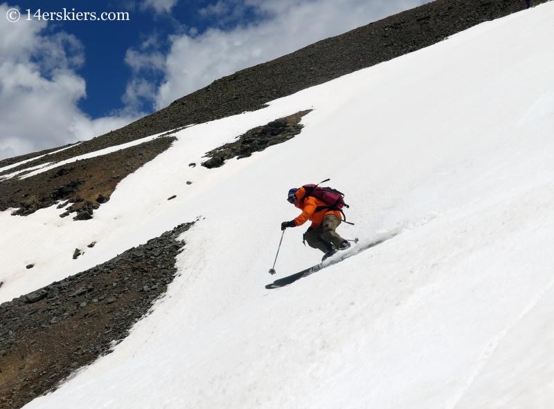 Frank Konsella backcountry skiing on Hurricane Peak.
