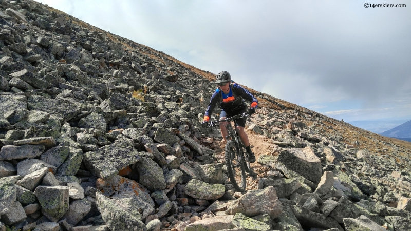 Mountain biking on continental divide trail near monarch pass