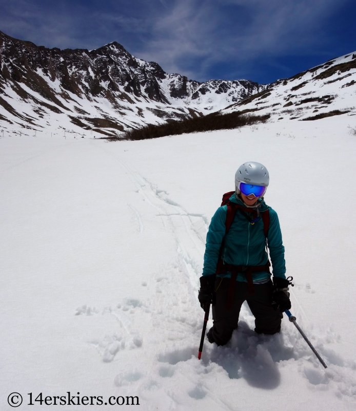 Backcountry skiing on Mount Buckskin