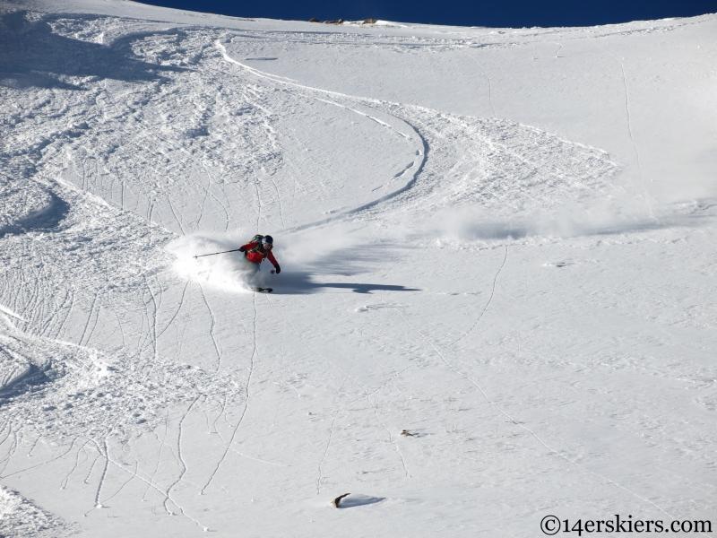 skiing in butler gulch
