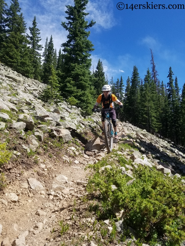 steep mountain bike descents in colorado