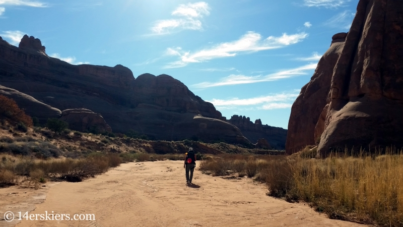 Canyoneering in Arches National Park