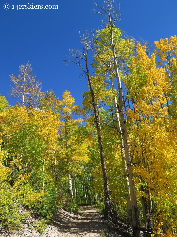fall hiking Carbon Creek near Crested Butte