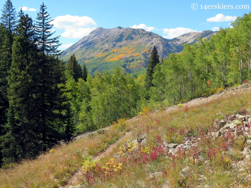 views of Anthracites while hiking Carbon Creek near Crested Butte