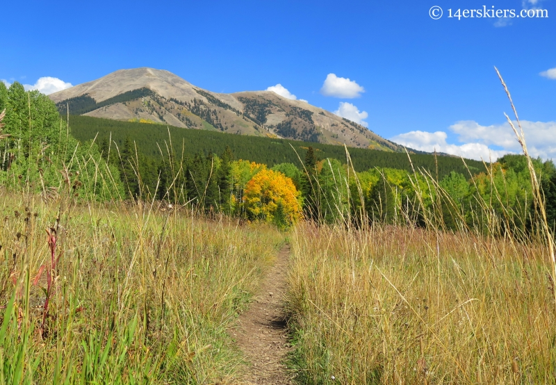 Whetstone from Carbon Creek near Crested Butte