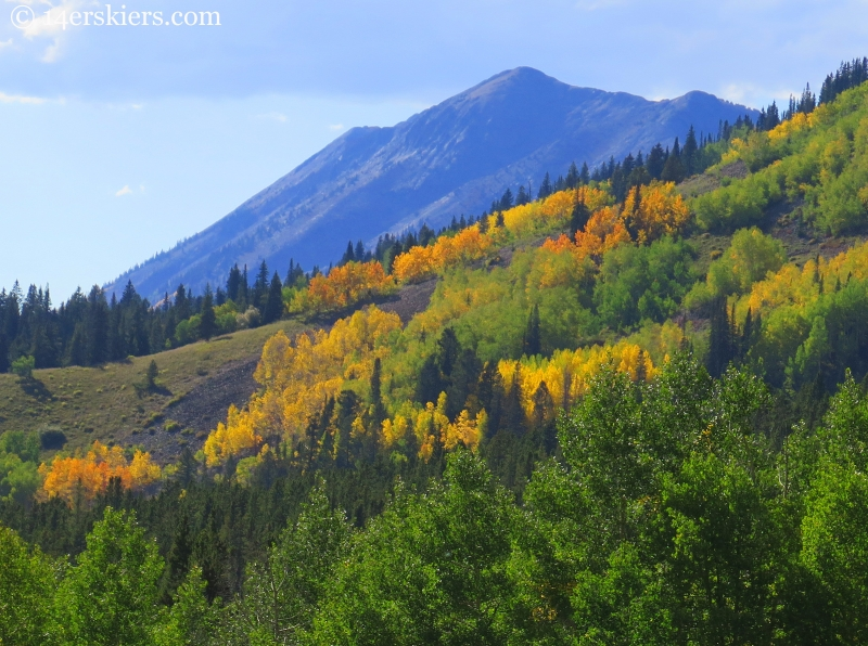 Anthracites seen from Carbon Creek in fall near Crested Butte