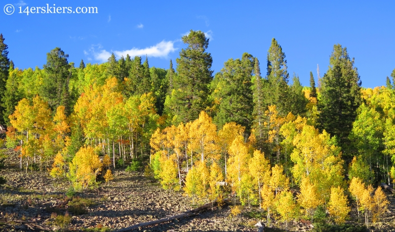 hiking in fall on Carbon Creek near Crested Butte