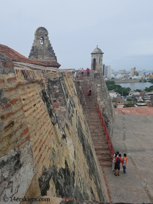 Castillo San Felipe in Cartagena.