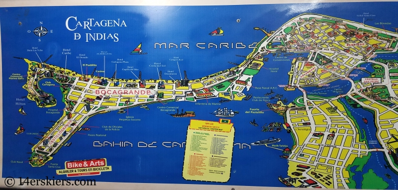 Map of Colorful Cartagena