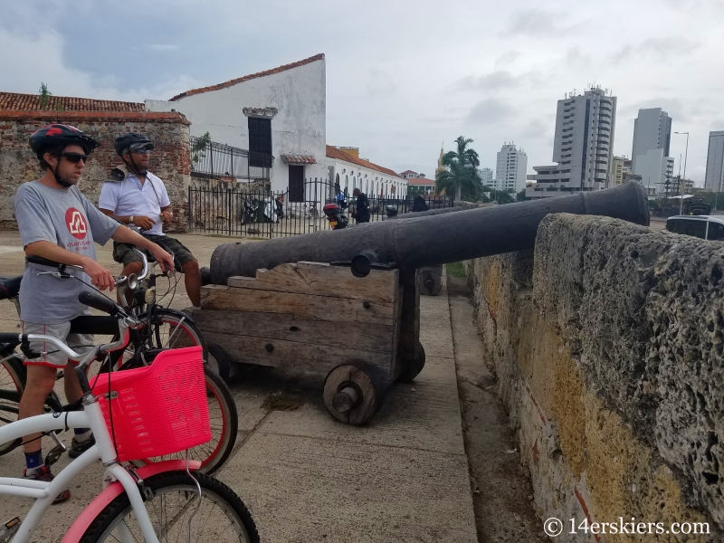 Colorful Cartagena bike tour.