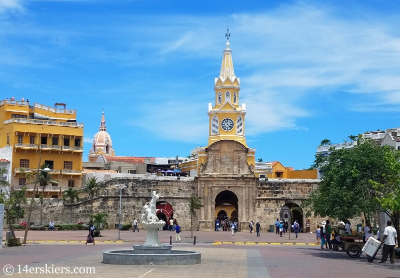 Clock Tower in Old Town Cartagena.