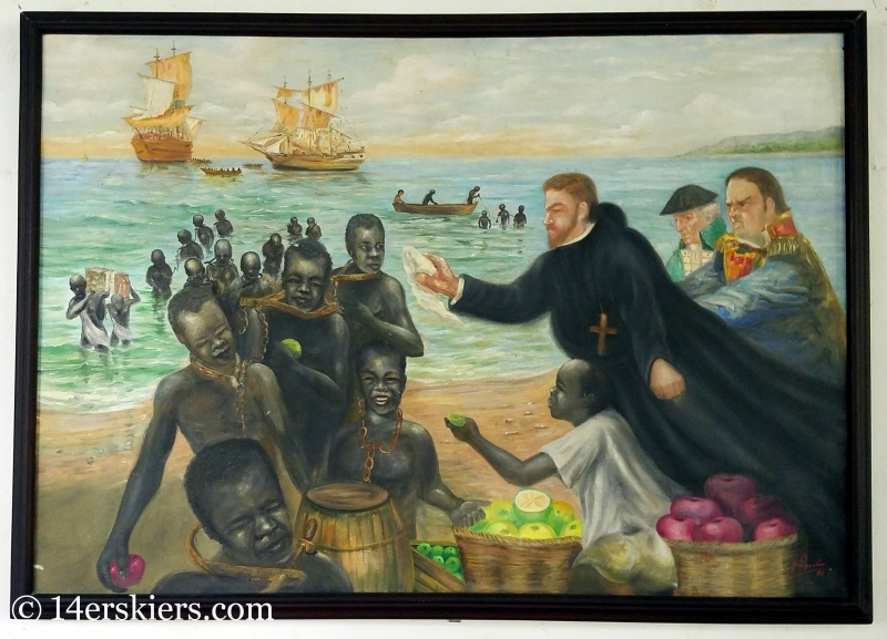 San Pedro Claver painting in Cartagena.