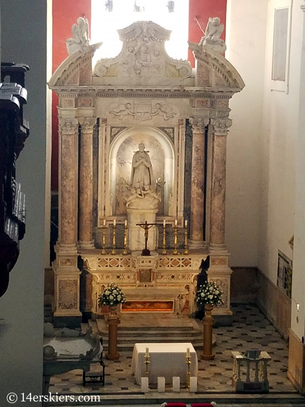 Altar of the Church of San Pedro in Cartagena.