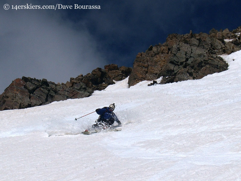 Mark Cavaliero skiing Castle Peak