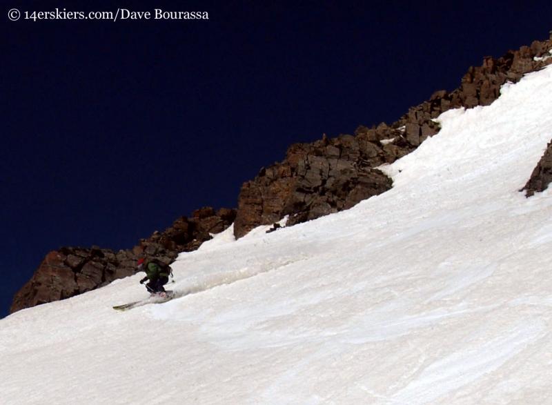 Frank Konsella skiing Castle