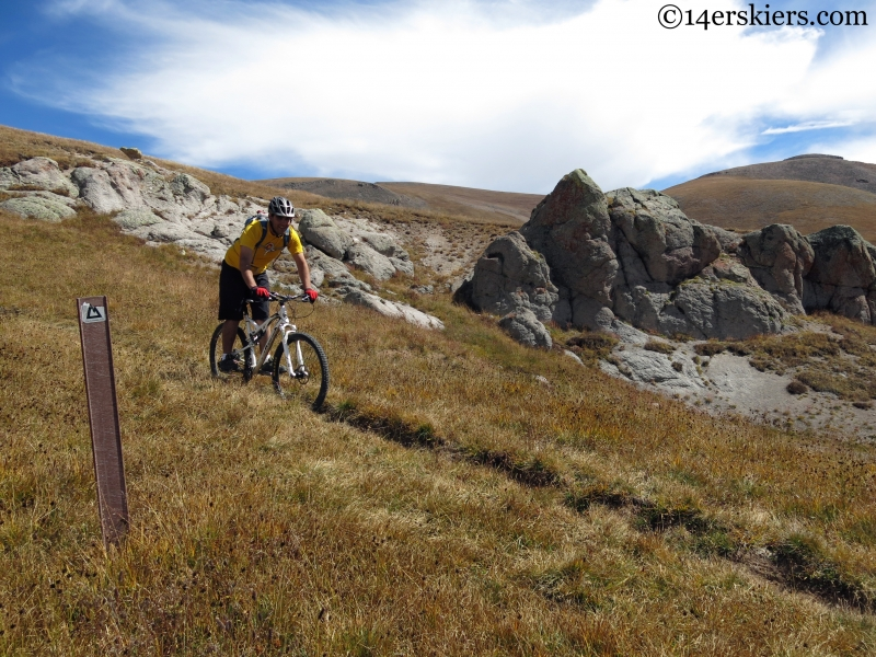 mountain biking the colorado trail