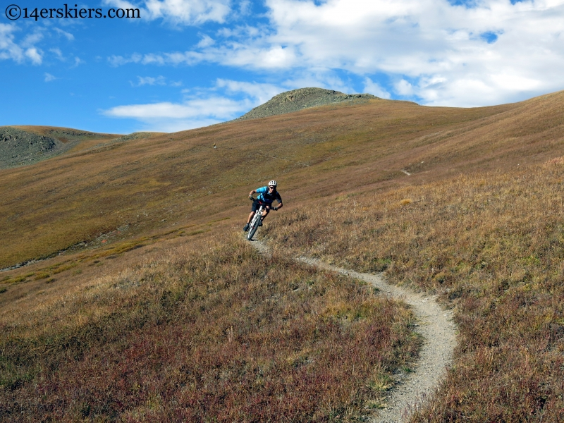 riding cataract ridge on the colorado trail