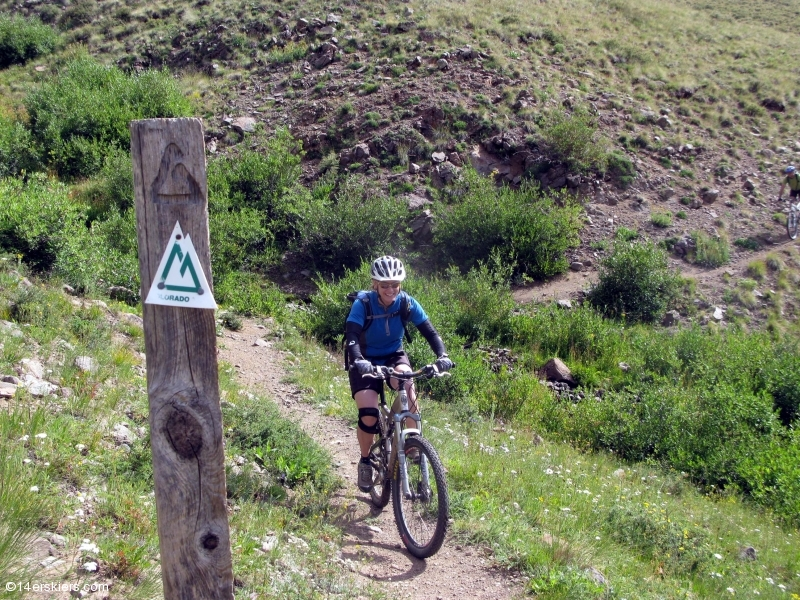 Mountain biking the Cataract Ridge section of the Colorado Trail.