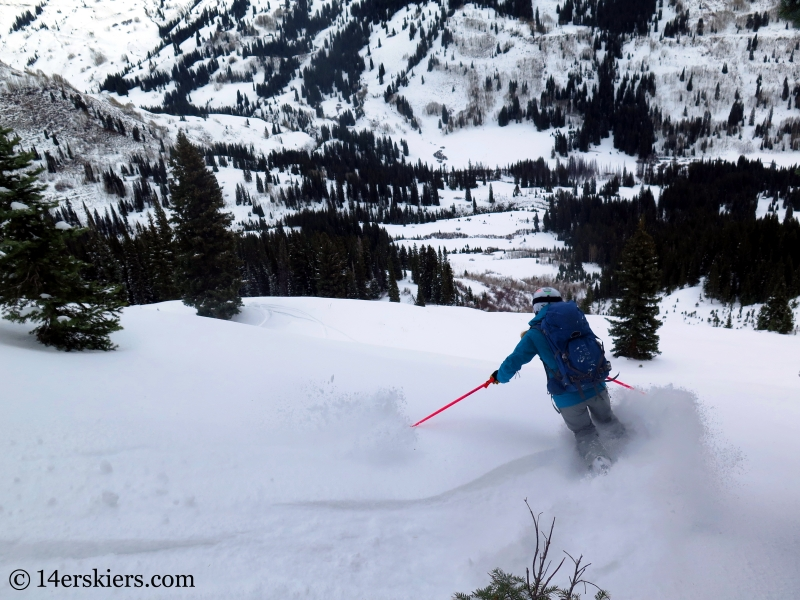 Alex Riedman skiing in Crested Butte backcountry