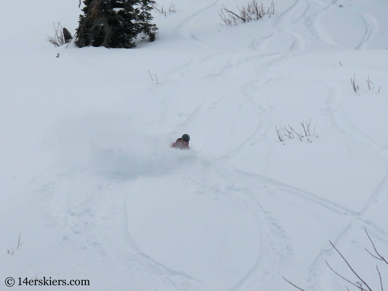 snowboarding in Crested Butte backcountry