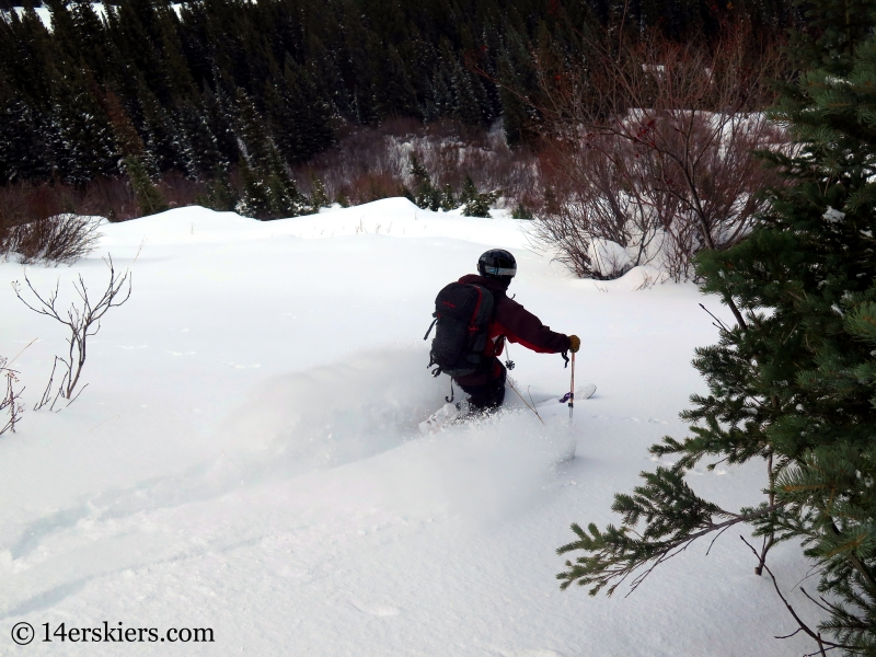 Mark Robbins backcountry skiing in Crested Butte.