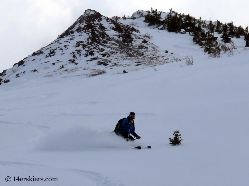 Sean Crossen backcountry skiing in Crested Butte.