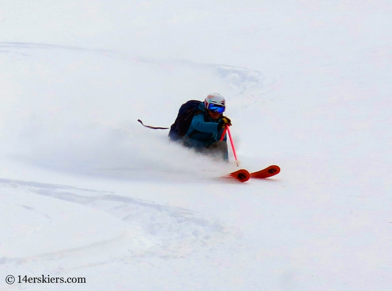 Alex Riedman backcountry skiing in Crested Butte.